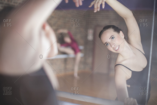 Ballet dancer exercising at studio
