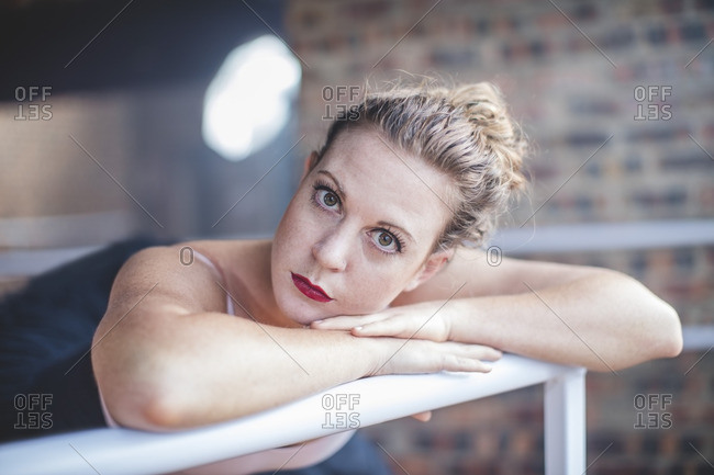 Portrait of ballet dancer at studio