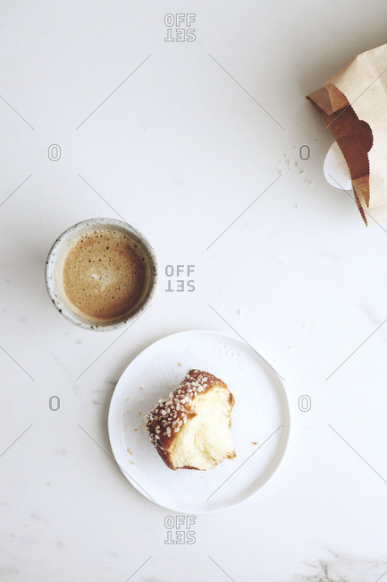 Coffee and brioche