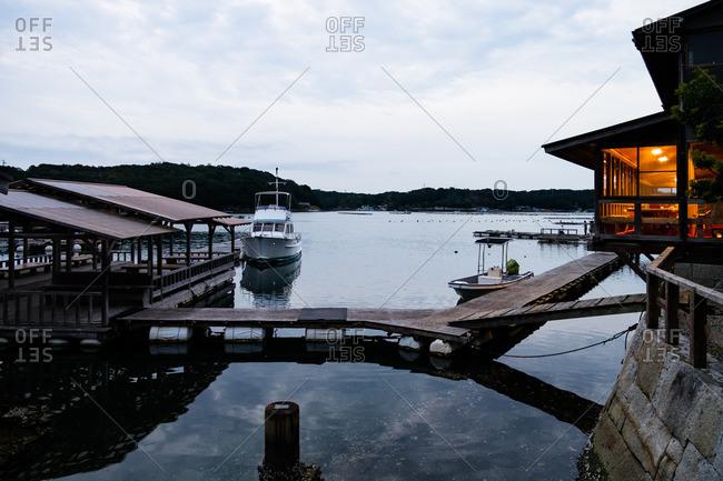 Boat harbor in rural Japan