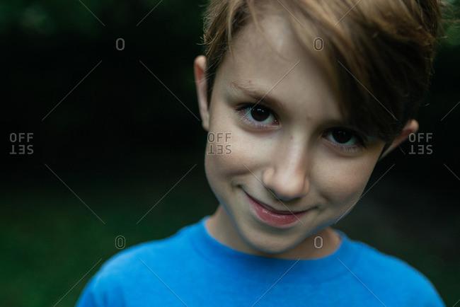 Boy smiling at the camera
