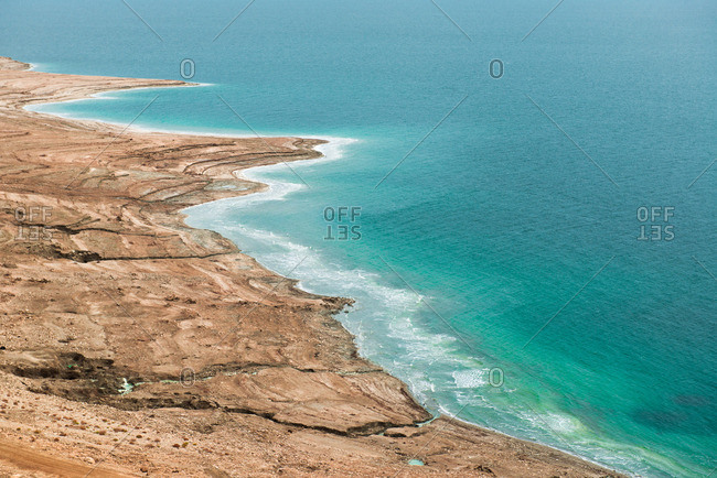 Desert shoreline at the Dead Sea, Israel