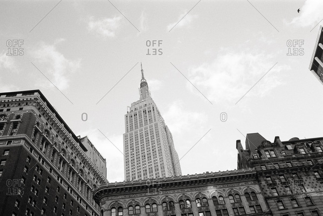November 14, 2016 - New York, NY: Street level view of Empire State Building