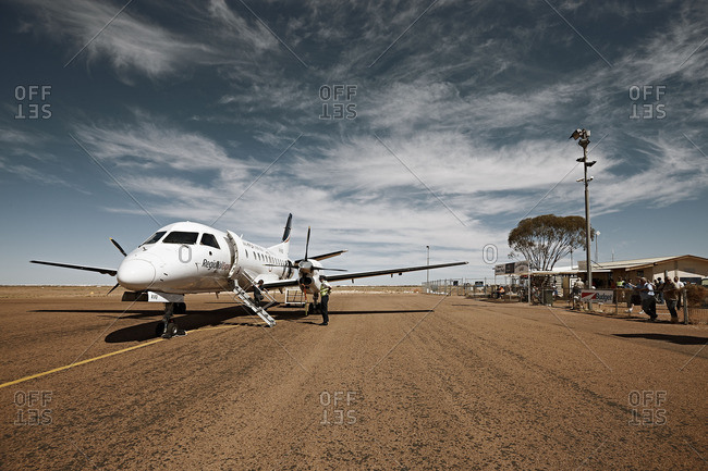 Coober Pedy, Australia - October 12, 2016: Airport of Coober Pedy in the outback of Australia