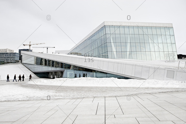 Oslo, Norway - October 12, 2016: Opera-house in Oslo, Norway