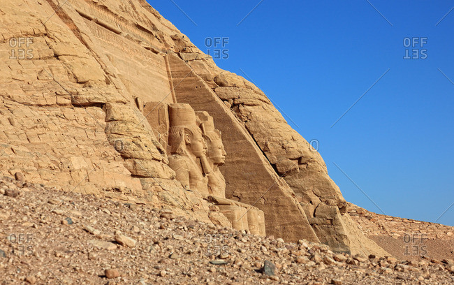 Abu Simbel temples in Nubia, southern Egypt,