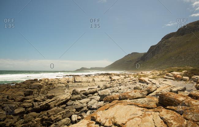 Rocky coast along Capetown, South Africa