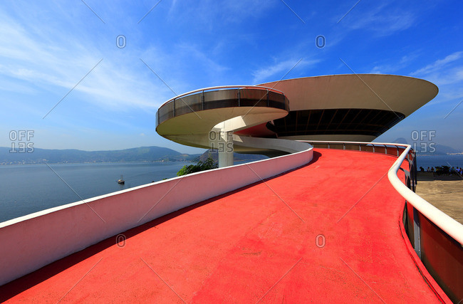 Niteroi, Brazil - October 13, 2016: Niteroi Contemporary Art Museum in Niteroi, Brazil