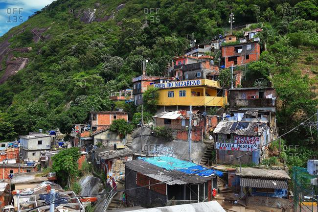 Rio de Janeiro, Brazil - October 13, 2016: Favela Santa Marta, Rio de Janeiro, Brazil
