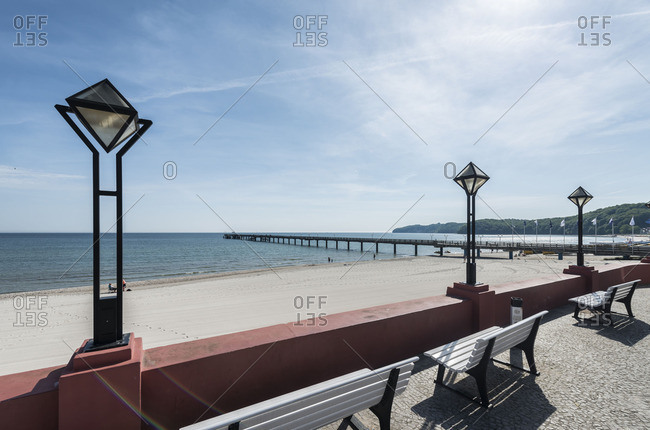 View of the pier in Binz, Mecklenburg-Western Pomerania, Germany