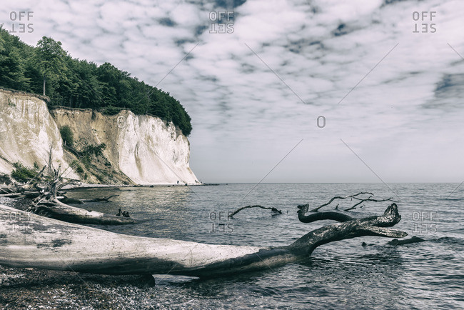 View of the Chalk Cliffs, Sassnitz, Germany