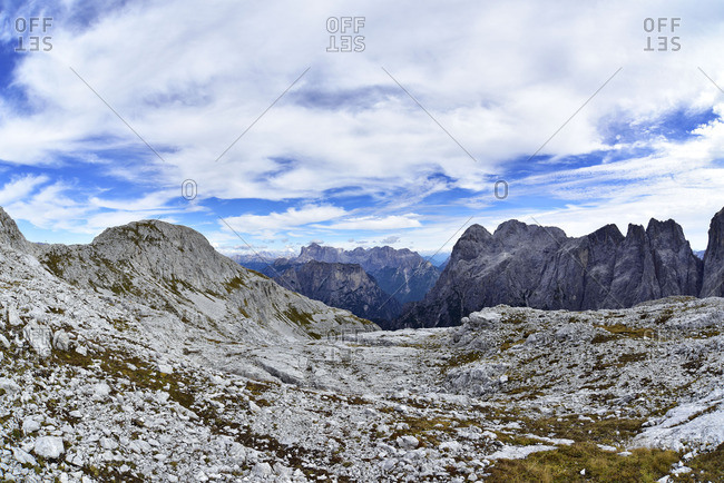 Plateau of the Pale di San Martino, Dolomites, Italy