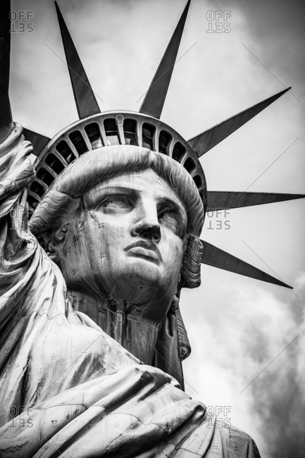 786889d07f05d Face of the Statue of Liberty stock photo - OFFSET
