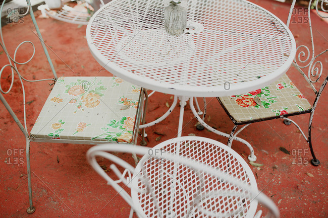 Vintage metal garden table and chairs