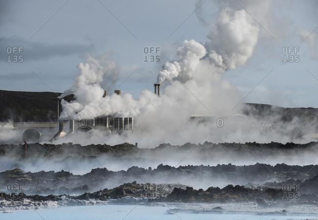 Smoke emitting from smokes tacks by sea