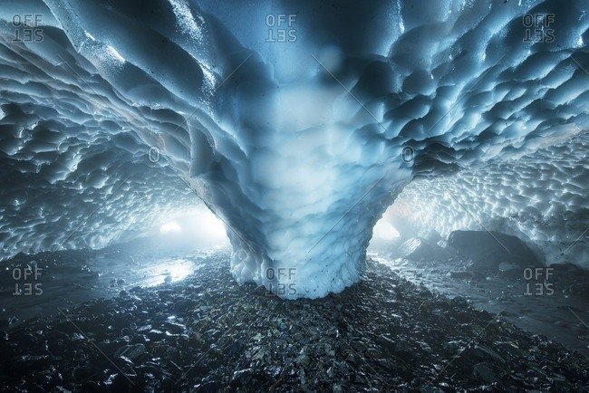 Ice cave in North Cascades National Park
