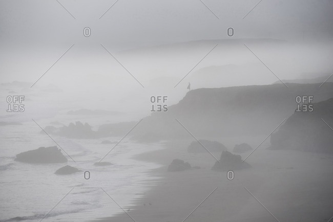 Scenic view of Pismo Beach during foggy weather