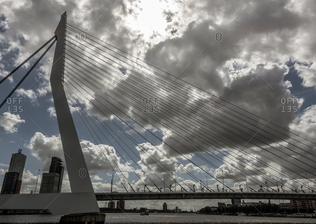 Rotterdam, Netherlands - August 8, 2016: Erasmusbrug bridge