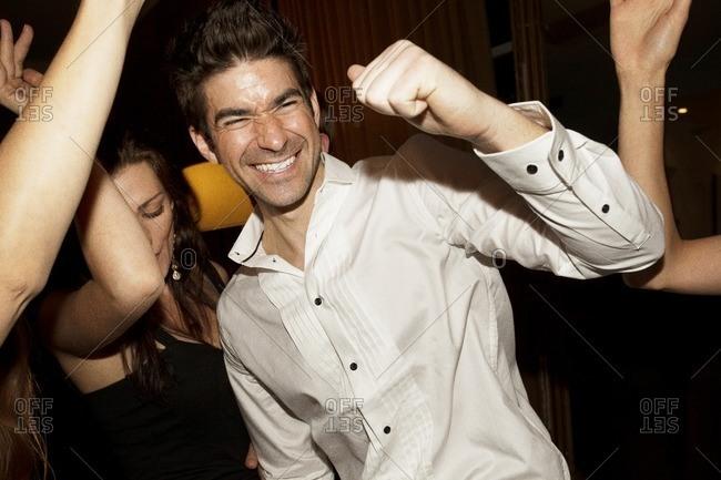 Friends dancing at nightclub - Offset