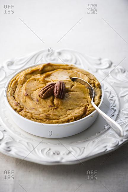 Bowl of sweet potato souffle