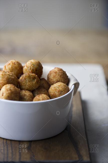 Arancini balls in bowl