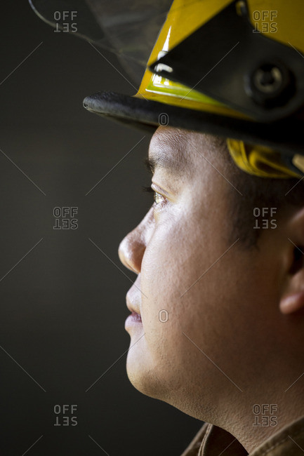 Portrait of Chinese fireman