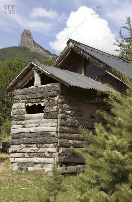 Rustic cabin in rural Argentina