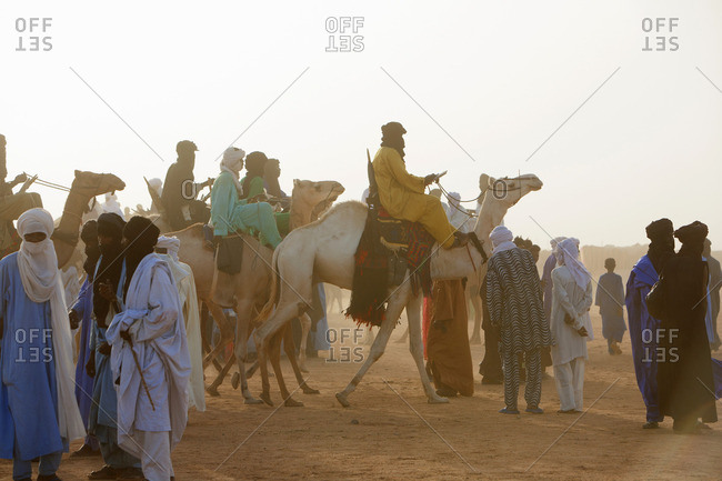 Niger, Africa - September 15, 2006: Touareg nomads at Curee Salee festival, Niger