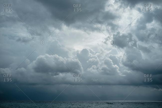 Cloudscape over sea, Zante, Greece