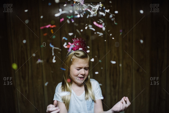 Girl in New Year's eve festivities