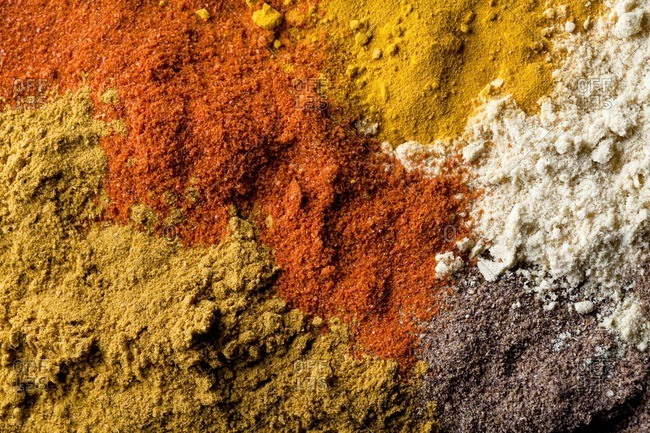 Full frame shot of spices