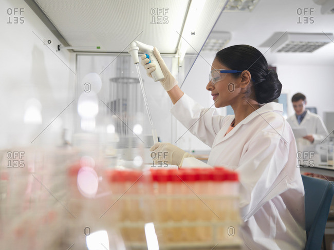 Laboratory technicians at work - Offset