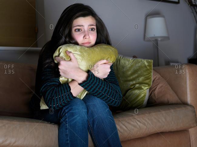Girl, 14 watching sad movie