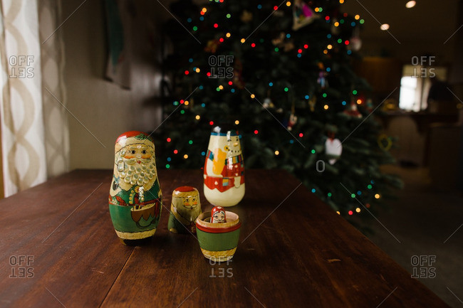 nesting dolls by christmas tree nesting dolls by christmas tree