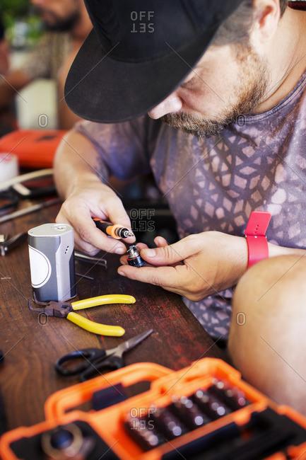 Mechanic working in workshop