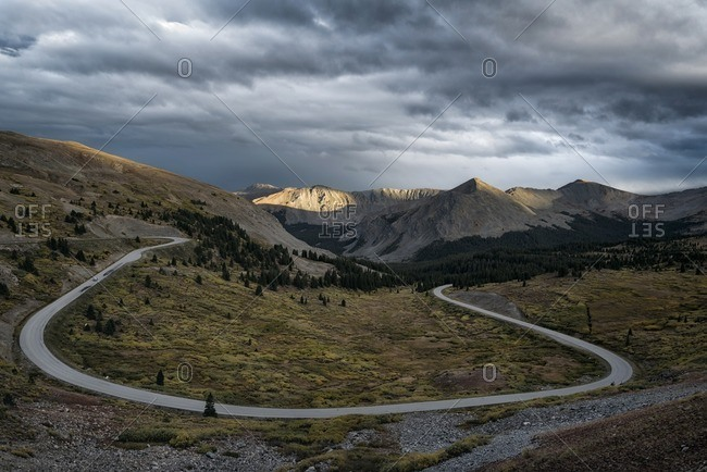 Scenic view of Cottonwood Pass against cloudscape