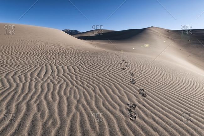 Shoe Prints on sand