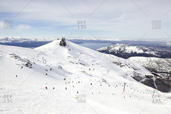A ski slope in Andes mountains, Argentina