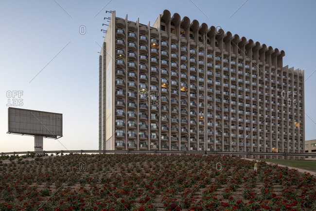 Exterior of residential building, UAE