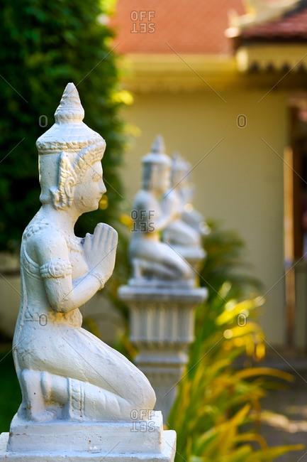 Buddhist statue in Phnom Penh, Cambodia