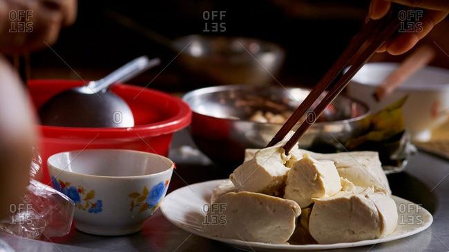 Vietnamese tofu meal