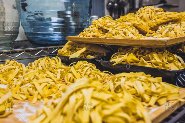 Handmade pasta at baroo
