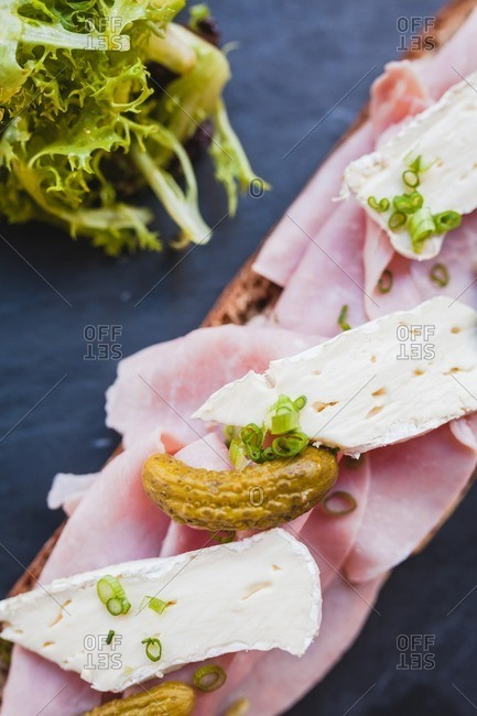 Close up of French cold sandwich