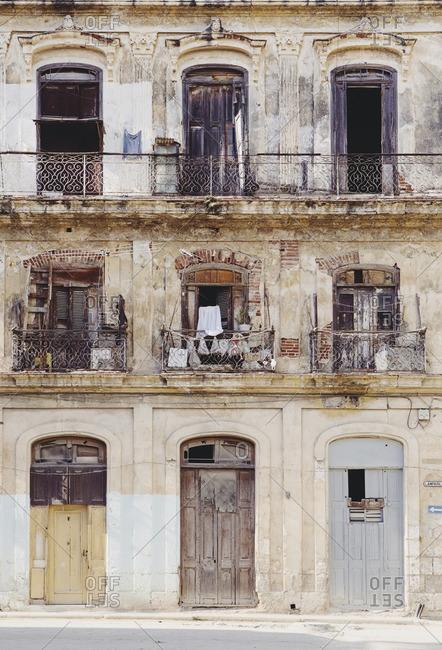 Windows and doors in Havana, Cuba