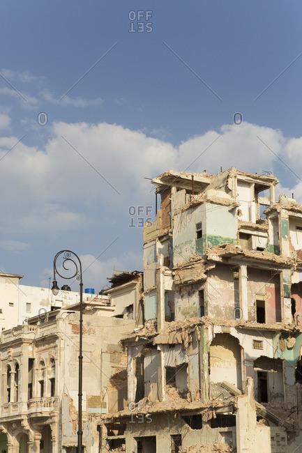 Crumbling building in Havana, Cuba