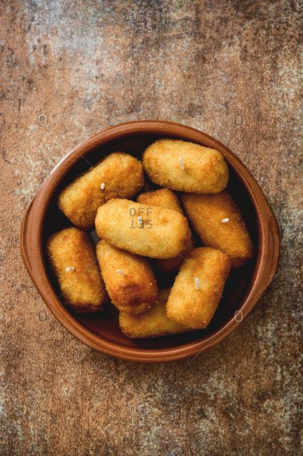 Delicious Spanish croquettes