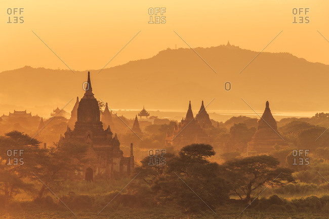 Sunrise in Began,  ancient city located in the Mandalay Region of Burma (Myanmar)