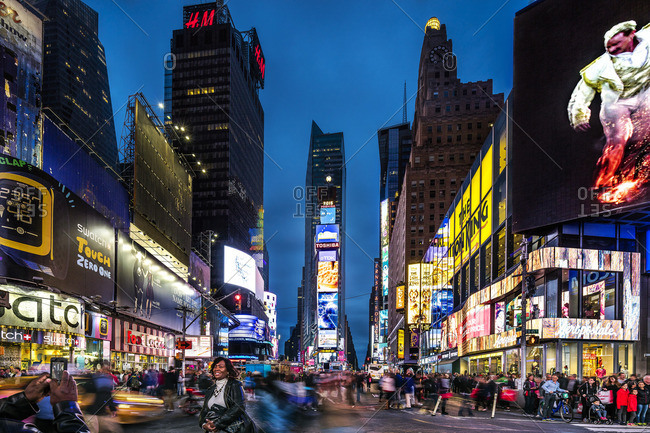 Midtown, Manhattan, New York City, United States, USA - December 22, 2016: Times Square,