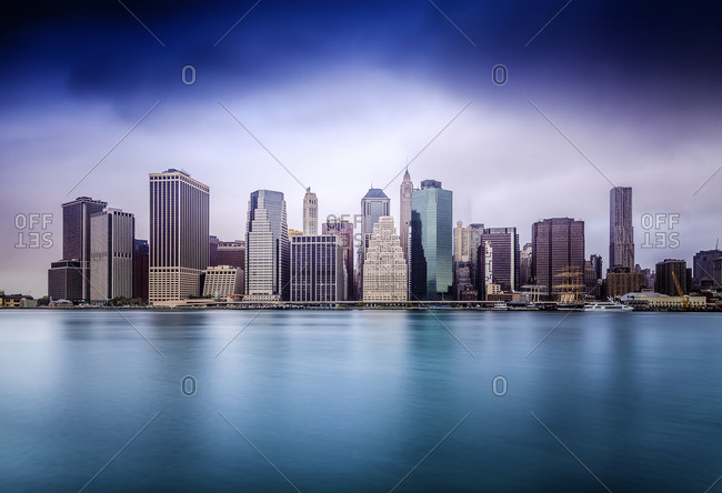 Lower Manhattan, Manhattan, New York City, United States, USA - December 22, 2016: Lower Manhattan Skyline