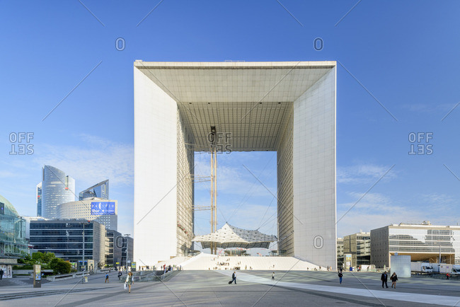 Paris, Ile-de-France, France - December 22, 2016: Grande Arch